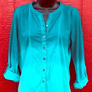 "NWT Prana ""Amber"" ombré button front shirt small"